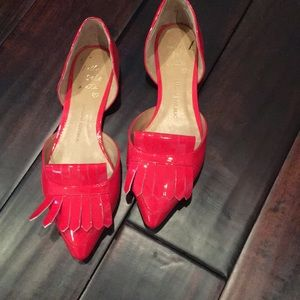 Banana republic super cute red patent flats!
